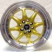 White Diamond 8006 Gold Wheels