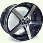 White Diamond 5178 Machined Black Wheels
