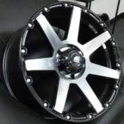 White Diamond WD-2804 Machine Black Wheels