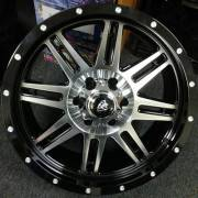 White Diamond WD-3310 Machine Black Wheels