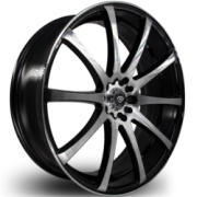 White Diamond 3196 Black Machined Wheels