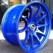 White Diamond 1018 Metallic Blue Wheels