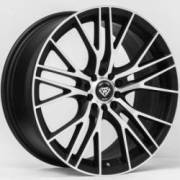 White Diamond WD-3267 Matte Machined Black Wheels