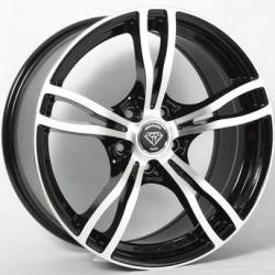 White Diamond 5056 Machined Black Wheels