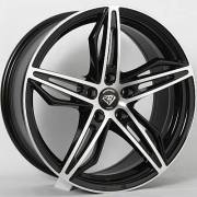 White Diamond 5324 Black MachinedWheels