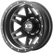 XD830 Machete Satin Black Rear Dually Wheels