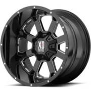 XD825 Buck 25 Gloss Black Machined Wheels
