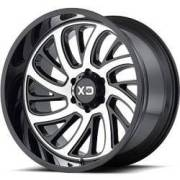 XD826 Surge Gloss Black Machined Wheels