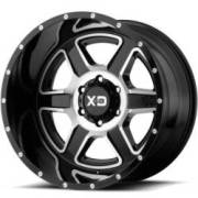 XD832 Fusion Gloss Black Machined Wheels