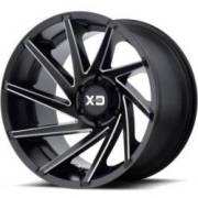XD834 Cyclone Satin Black Milled Wheels