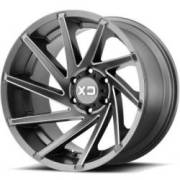 XD834 Cyclone Satin Milled Wheels