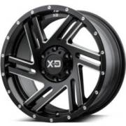 XD835 Swipe Satin Black Milled Wheels