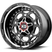 XD Series XD837 Demodog Gloss Black Milled Wheels
