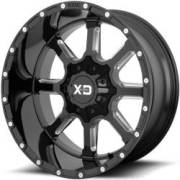 XD Series XD838 Mamoth Gloss Black Milled Wheels