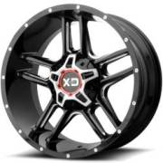 XD Series XD839 Clamp Gloss Black Milled Wheels